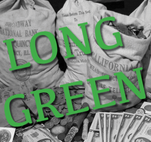 noir-style image with band name Long Green